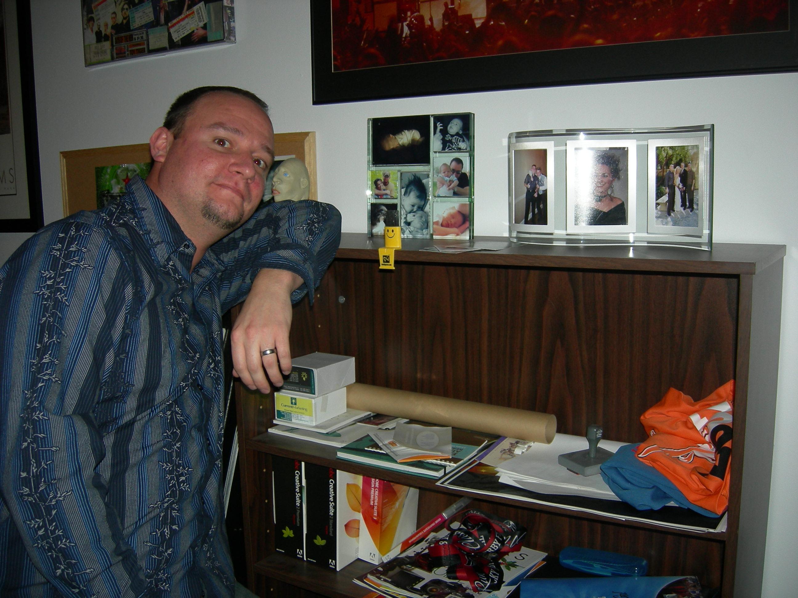 Donovan at his desk