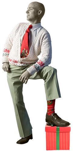 Dennis' holiday sweater