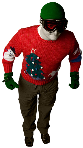 Donovan's holiday sweater