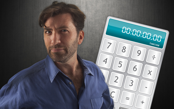 Photo of Current360 Associate Creative Director Robert Womack and an illustration of a calculator