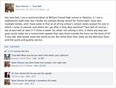 TBell FB page
