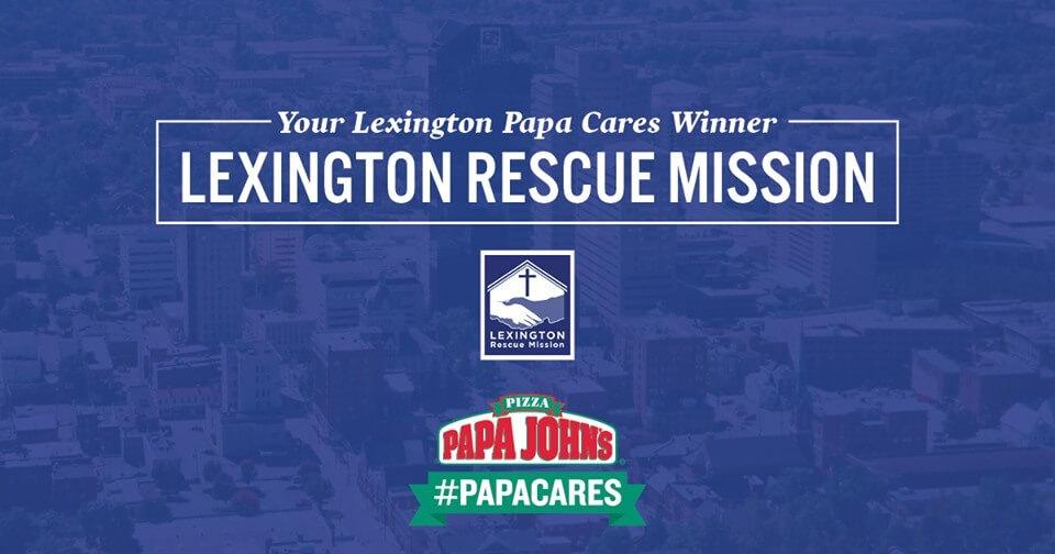 Papa John's Lexington Rescue Mission Social Post
